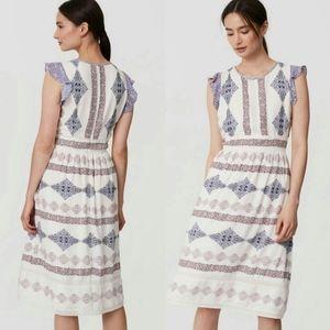 NWT Ann Taylor LOFT Flora Dress GORGEOUS BOHO 12